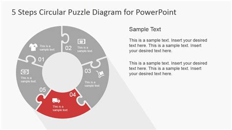 6 steps circular segmented diagram for powerpoint slidemodel 5 step circular puzzle diagram template for powerpoint