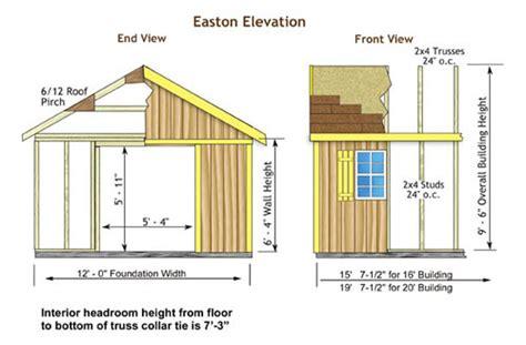 Standard Shed Sizes by Easton 20x12 Backyard Wood Storage Shed Kit