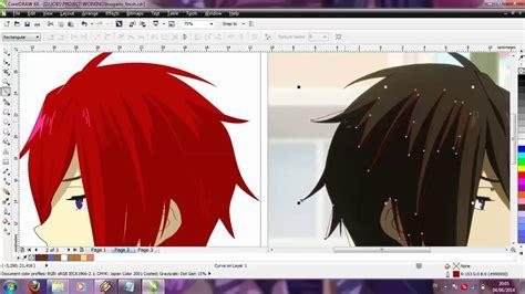 membuat poster lewat corel draw minimlaist design anime dengan corel draw by lely youtube
