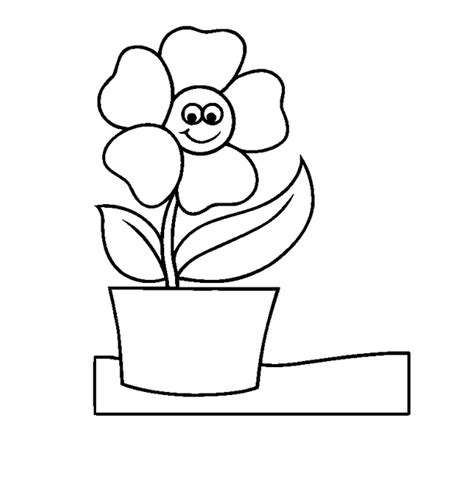 coloring pages of flowers in a pot coloring page of flower pot clipart best
