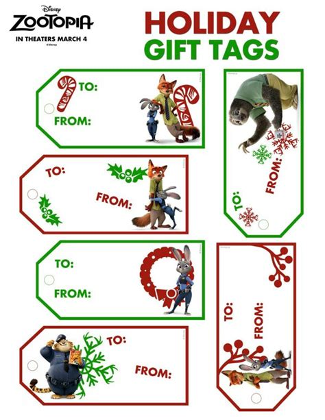 free printable disney zootopia holiday gift tags mama
