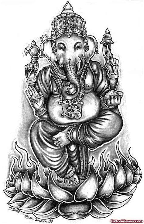 Elephant Head Lord Ganesha Tattoo Design | Tattoo Viewer.com