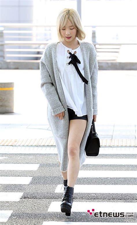 Blouse Taeyeon snsd taeyeon airport fashion style snsd airport fashion