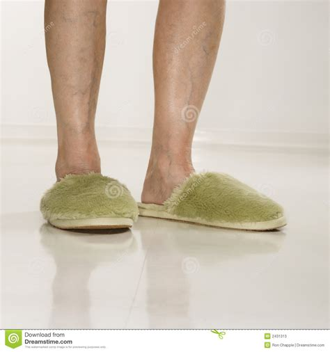wearing slippers wearing slippers stock photos image 2431313