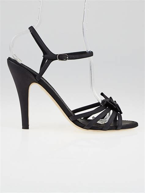 2 Die 4 Givenchy Moroccan Studded Ankle Sandals by Chanel Black Leather Strappy Bow Sandals Size 11 5 42