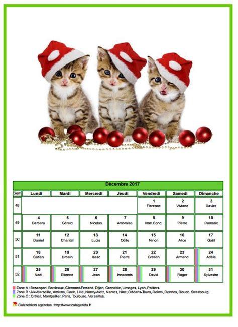 Calendrier De Chat Calendrier D 233 Cembre 2017 Chats