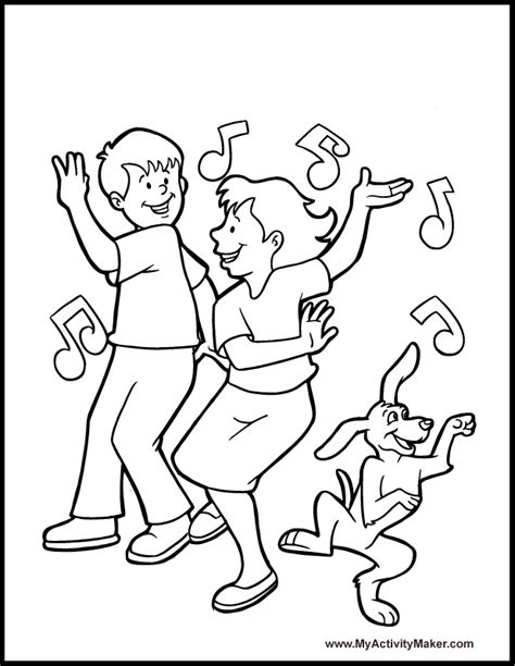 dance coloring pages az coloring pages
