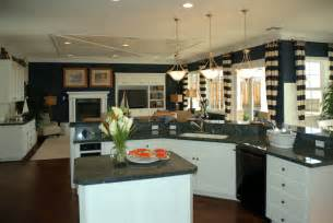 Kitchen Blue Walls White Cabinets by Navy Walls And White Cabinets Are Balance Matching