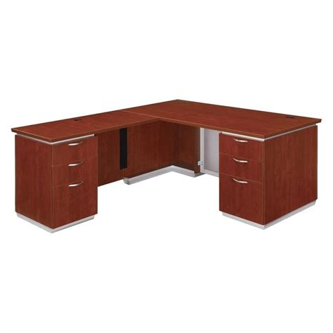 Assembled Office Desks Flexsteel Pimlico Laminate Executive 72 Quot Lhf L Shaped Desk Assembled 7020 48