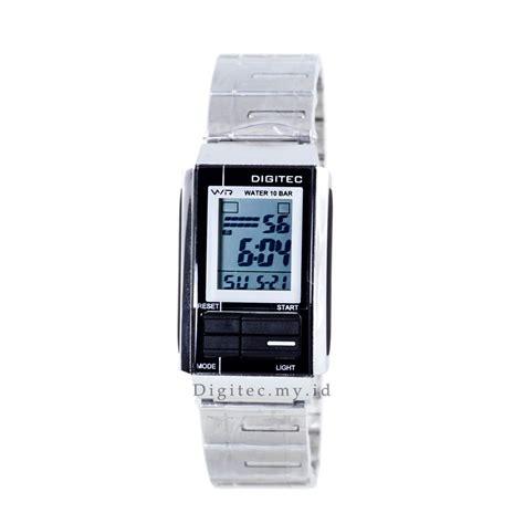 Jam Tangan Digitec Cewek Anti Air digitec dg 3022t poptone rantai silver black jam tangan
