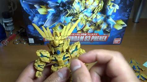 Sd Unicorn Phenex Bandai sd gundam unicorn phenex complete build and review hd
