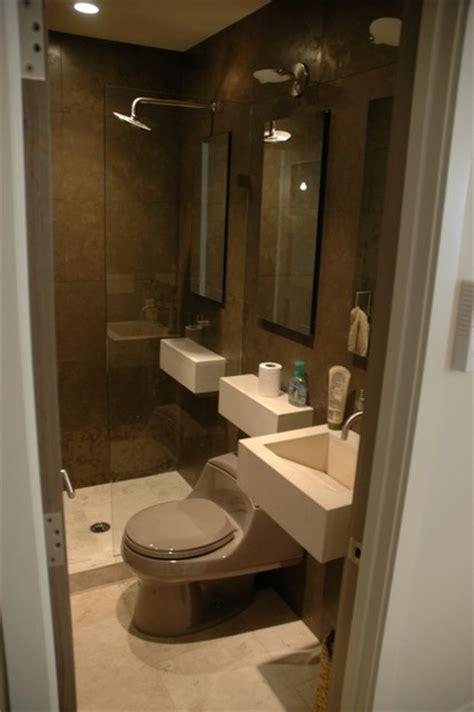 Contemporary condo bath Modern Bathroom Chicago by Jill Jordan