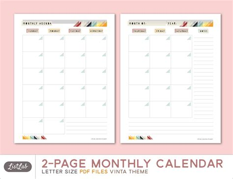 2 page monthly calendar template 2 page monthly calendar template pictures to pin on