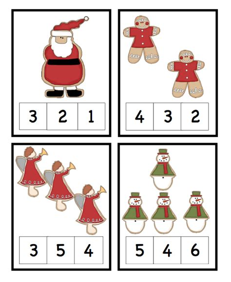 printable christmas number cards november 2013 preschool printables
