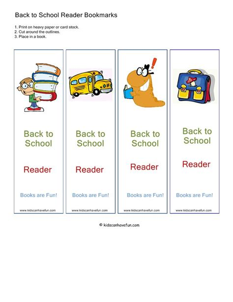 printable school bookmarks back to school bookmarks back to school activities