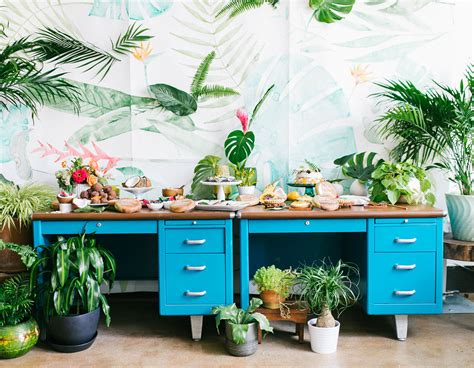 tropical decoration how to throw a tropical bridal shower green wedding shoes