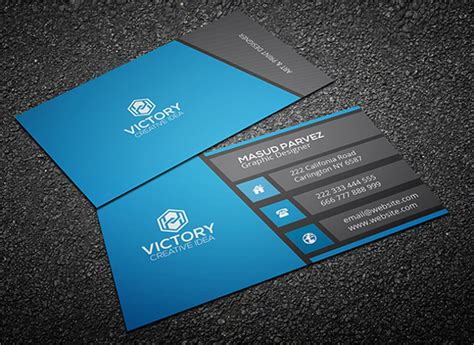 Business Card Template Black Design by 31 Modern Business Card Templates Free Eps Ai Psd