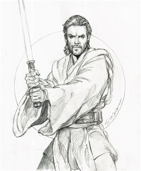 Coloring Book Wars The Awakens Rule The Universe wars obi wan kenobi drawing iain mccaig comic wars prequels