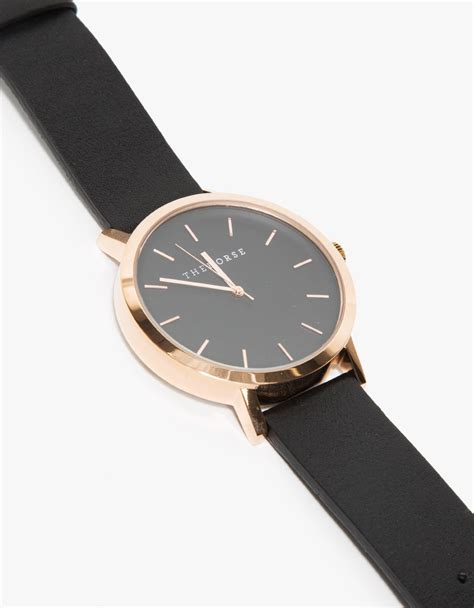 Alba Black Rosegold the gold black band in pink lyst