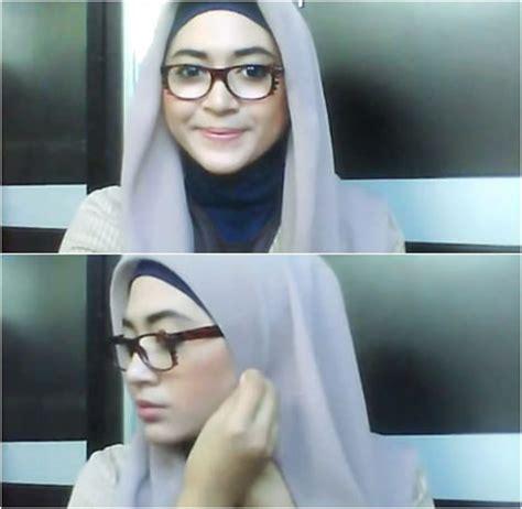tutorial hijab paris kacamata busana muslim trendy kreasi hijab untuk wanita