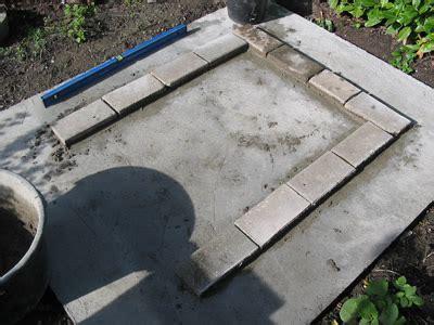 schouw zelf maken van gasbetonblokken onderbouw voor houtoven openhaard en bbq