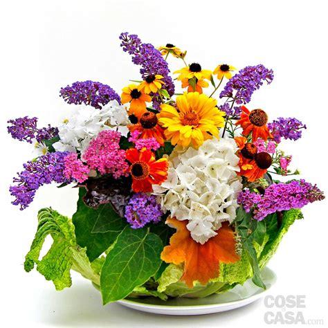 e fiori il centrotavola con verza e fiori cose di casa