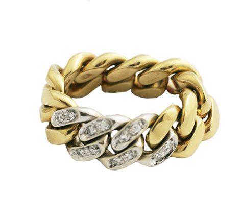 pomellato vintage pomellato vintage gold and link ring primavera