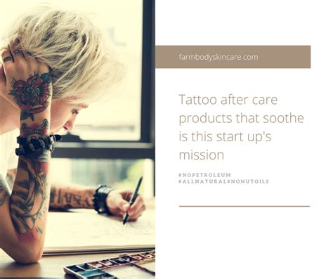 tattoo aftercare products farmbody skin care a after care startup