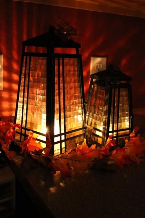 Lanterns Decorated For by 59 Fall Lanterns For Outdoor And Indoor D 233 Cor Digsdigs