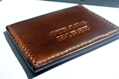 Custom Handmade Leather Wallets - handmade the duke minimalist leather wallet by strong