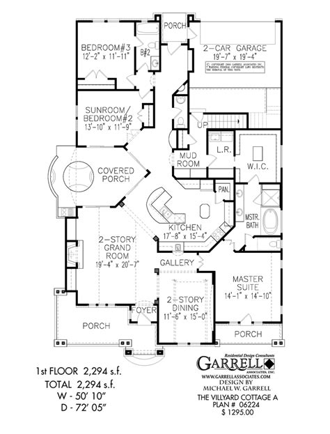floor plans of house villyard cottage a house plan active adult house plans
