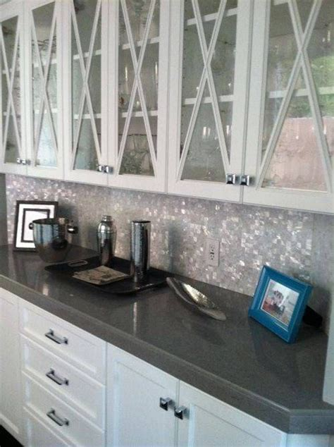 kitchen with custom mosaic glass cabinet hardware by uneek kitchen glass mosaic backsplash for kitchen pearl