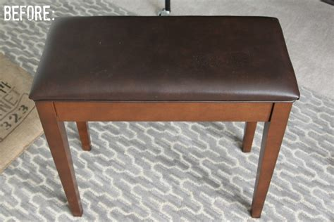 How To Reupholster A Piano Stool by Reupholstered Piano Bench Makeover House By Hoff