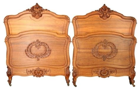antique twin headboards pair consigned antique french twin beds 1900 louis xv