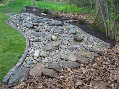 dry river bed landscaping decorative landscape design