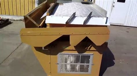 gravity table separator for oliver 80 gravity table seed separator youtube