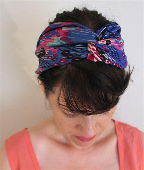 pattern for fabric headbands diy tutorial turban headband sew diy