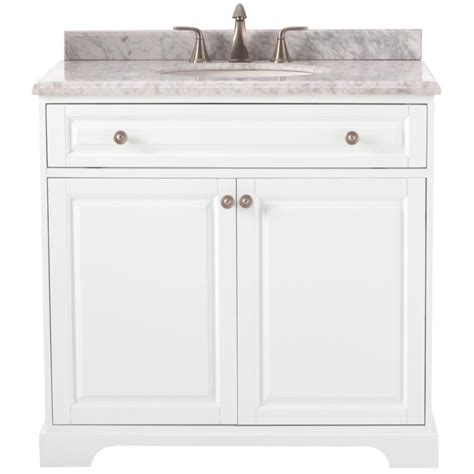 White Marble Vanity Top by Home Decorators Collection Highclere 36 In W X 22 In D