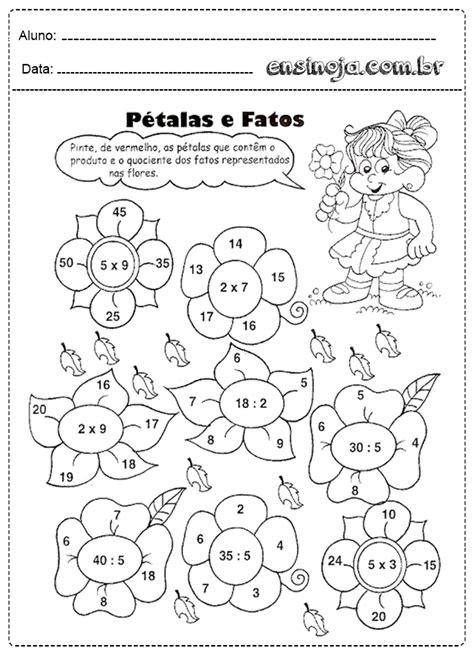 Atividades de matemática multiplicação e divisão - Ensinoja