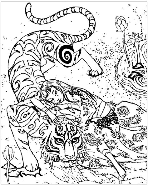coloring pages for adults tiger free coloring page coloring adult inspired by book tiger