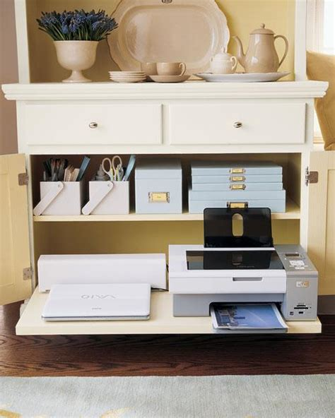 hidden printer cabinet small home office cabinets enhancing space saving interior design