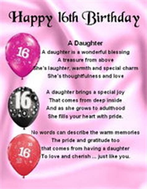 16th Birthday Quotes 16th Birthday Quotes For Daughter Quotesgram