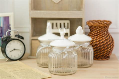country style glassware 2017 small american country style glass jar with ceramic