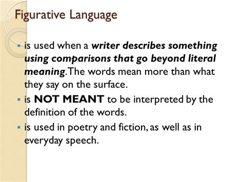 theme definition figurative language figurative language is used when a writer describes