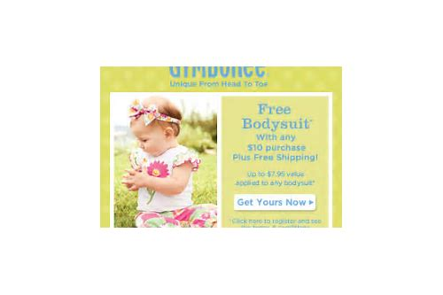 gymboree free bodysuit coupon code