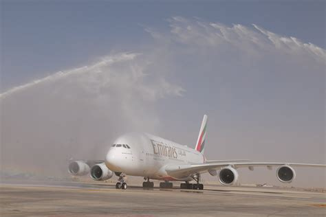 emirates queen commercial emirates a380 touches down in amman