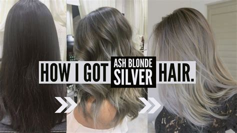 how i got gray hair how to go dark brown to silver ash tips advice on