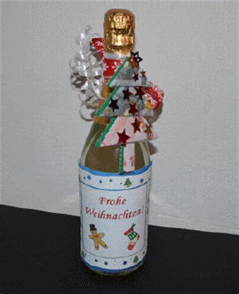 Flasche Mit Geld Dekorieren by Flasche Mit Geld Und Weihnachtsetikett F 252 R Weihnachten