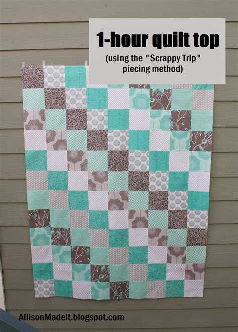 quilt pattern ideas allison made it super fast baby quilt using the scrappy