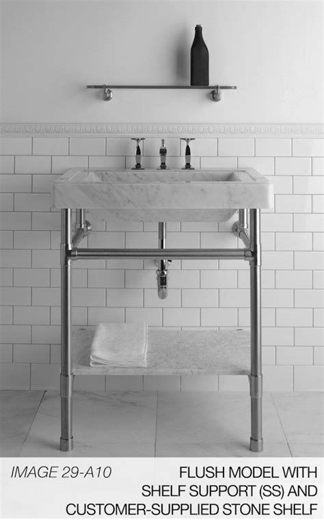 console sink with shelf console legs and marble sink sibel s powder room